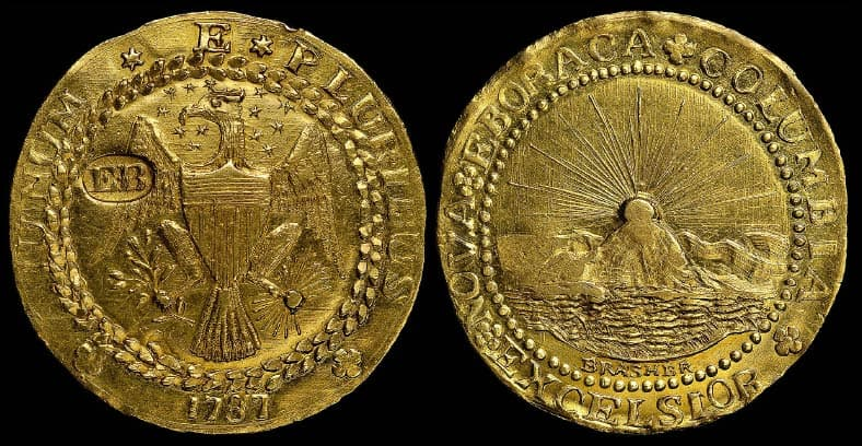 1787 Brasher Doubloon, EB on Wing