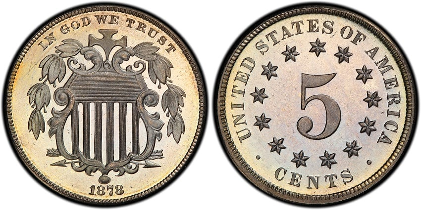 1878 Shield Nickel Proof