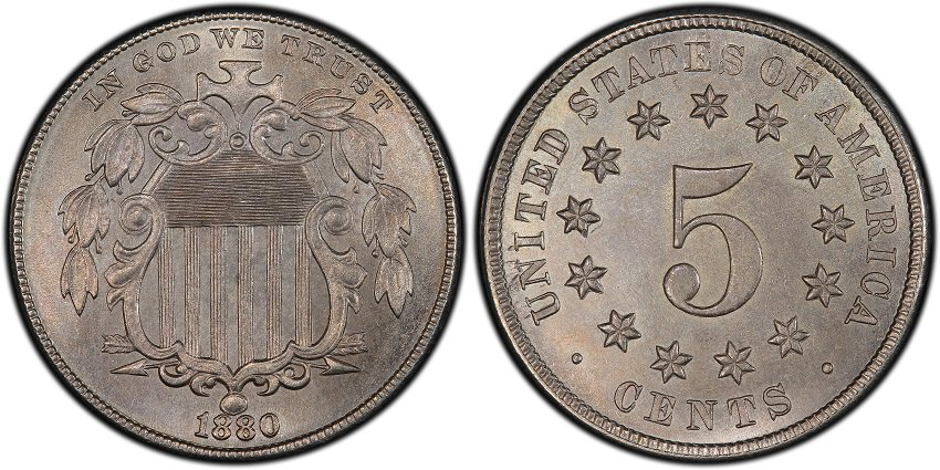 1880 Shield Nickel