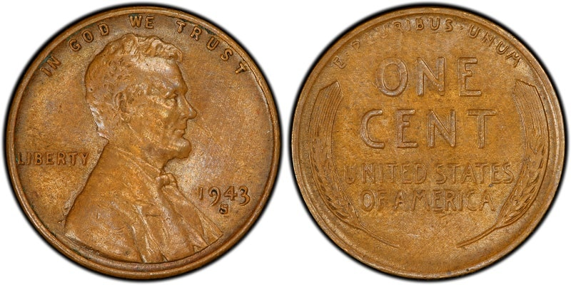 1943-S Lincoln Cent Struck on Bronze