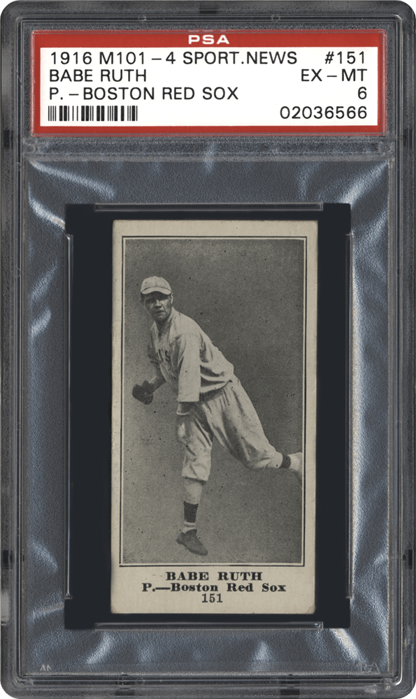 Sporting News Babe Ruth Rookie Card