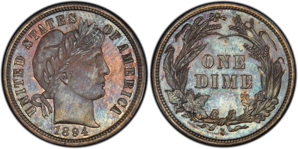 1894 S Barber Dime