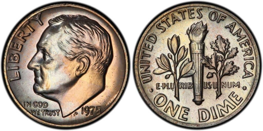 1975 No S Roosevelt Dime Proof