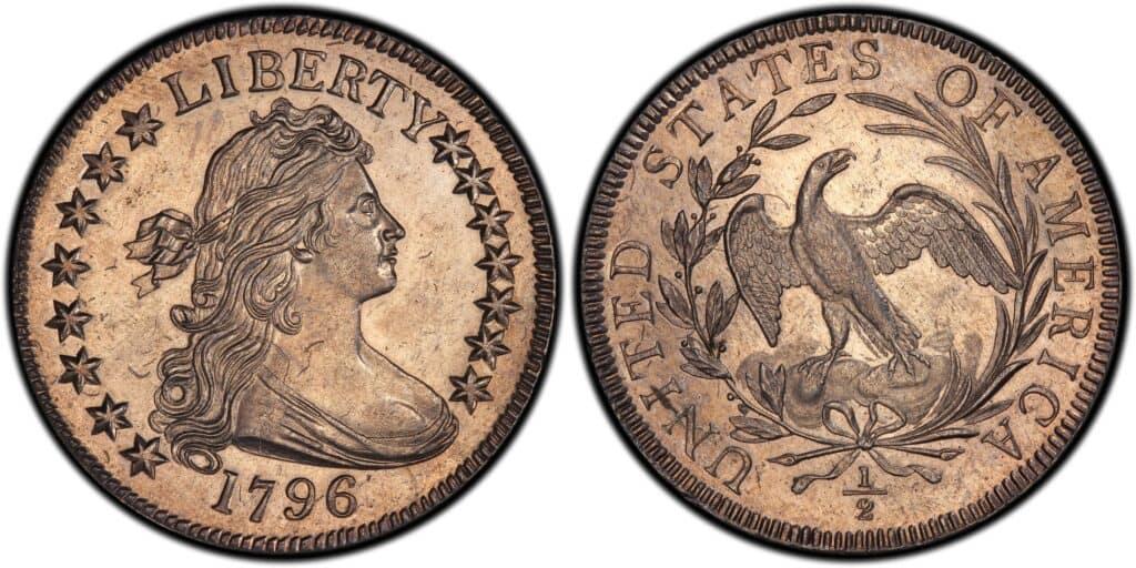 1796 Draped Bust Half Dollar 15 Stars Specimen