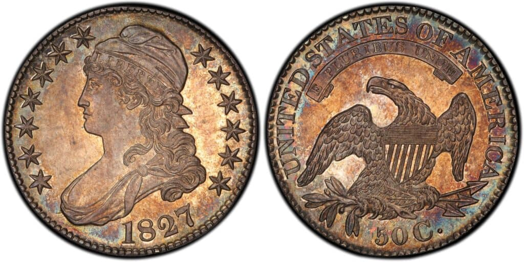 1827 Capped Bust Half Dollar Proof