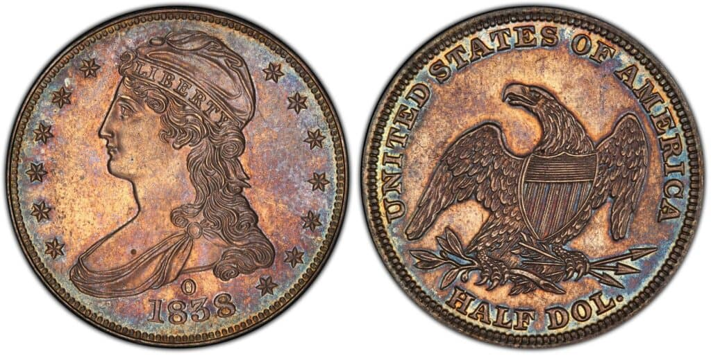 1838 O Capped Bust Half Dollar Proof