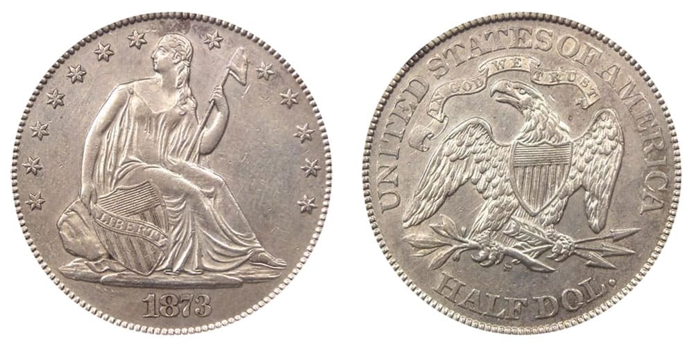 1873 S Seated Liberty No Arrows