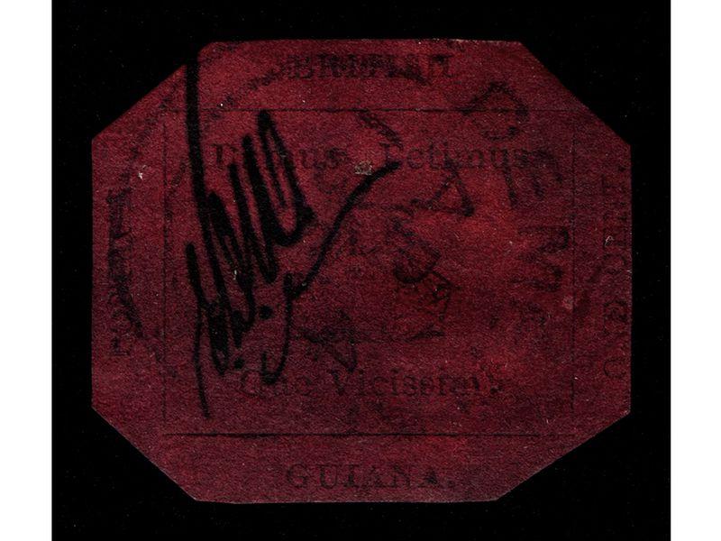 1856 British Guiana One Cent Magenta
