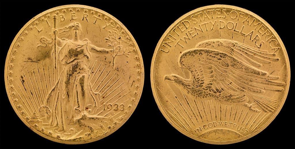 1933 Saint-Gaudens Gold Double Eagle Coin