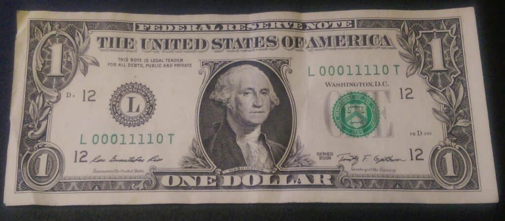 Binary Dollar Bill
