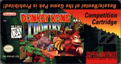 Donkey Kong Competition Cartridge
