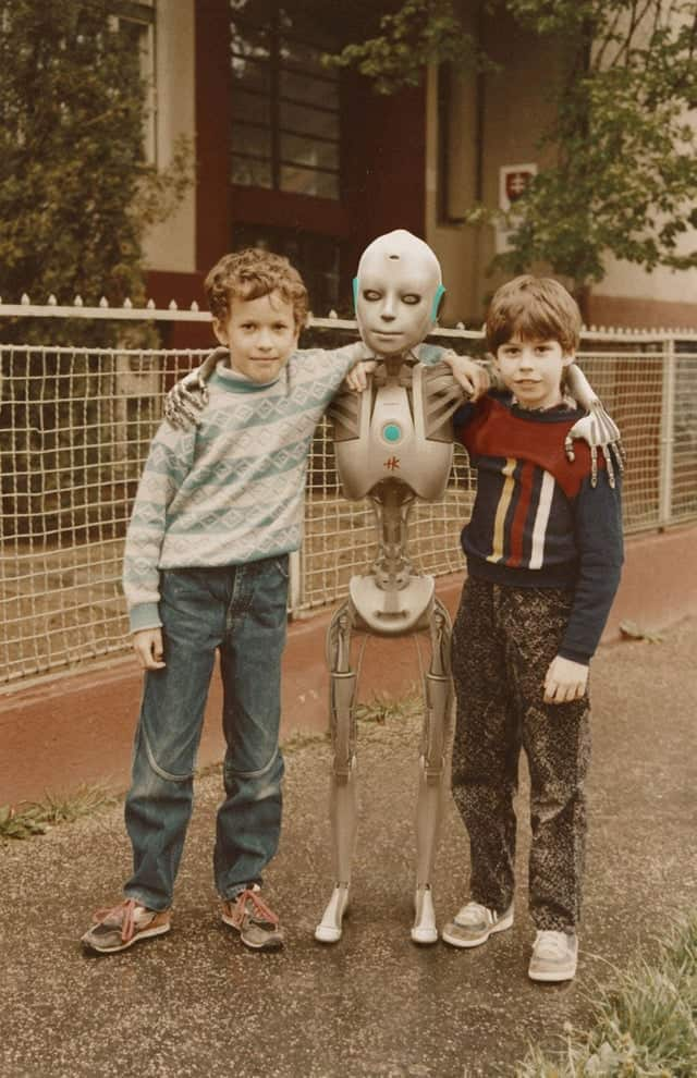 Robot Child with Humans