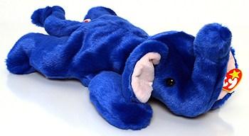 Beanie Baby Royal Blue Peanut the Elephant