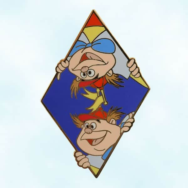 Tweedle Dee and Tweedle Dum Limited Edition 500 Pin