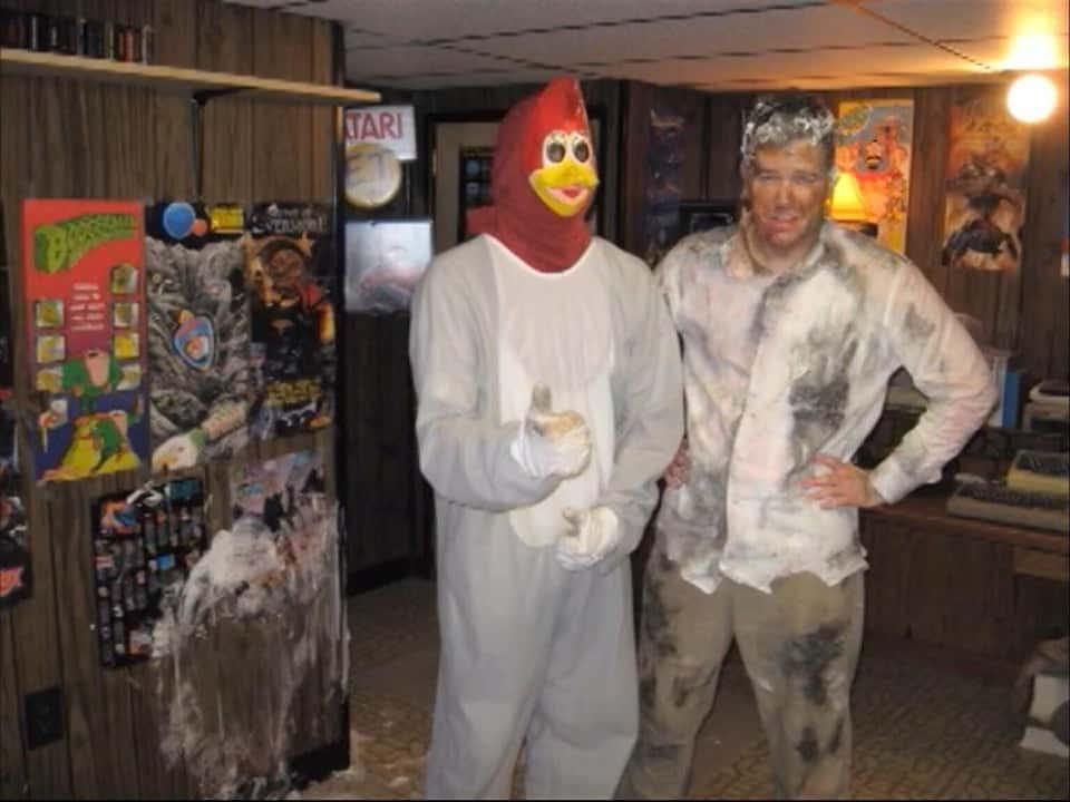Angry Video Game Nerd Woody Woodpecker Costume