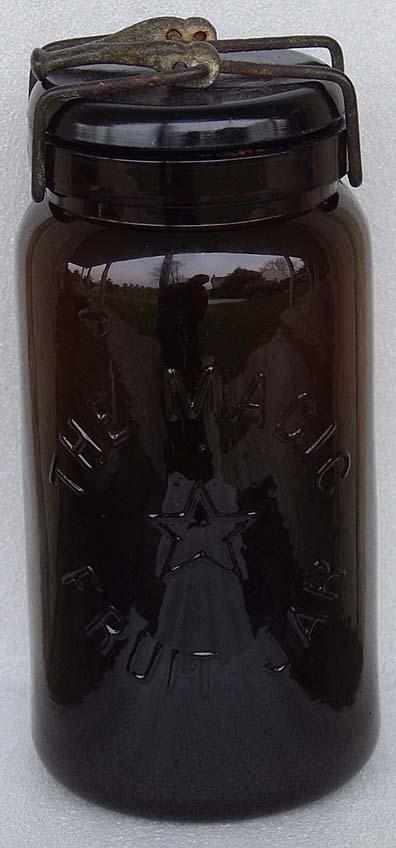 Black Amber Magic Star Fruit Jar