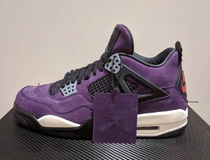 Travis Scott Air Jordan 4 - Purple