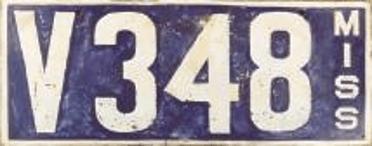 1911 Mississippi Porcelain Plates