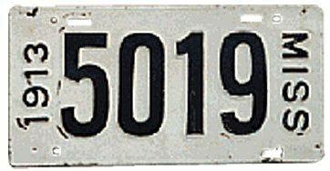1913 Mississippi Plate