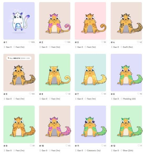 Founder Cats (CryptoKitties #2 - #100)