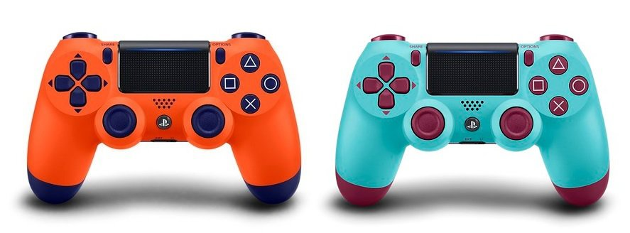 Berry Blue and Sunset Orange