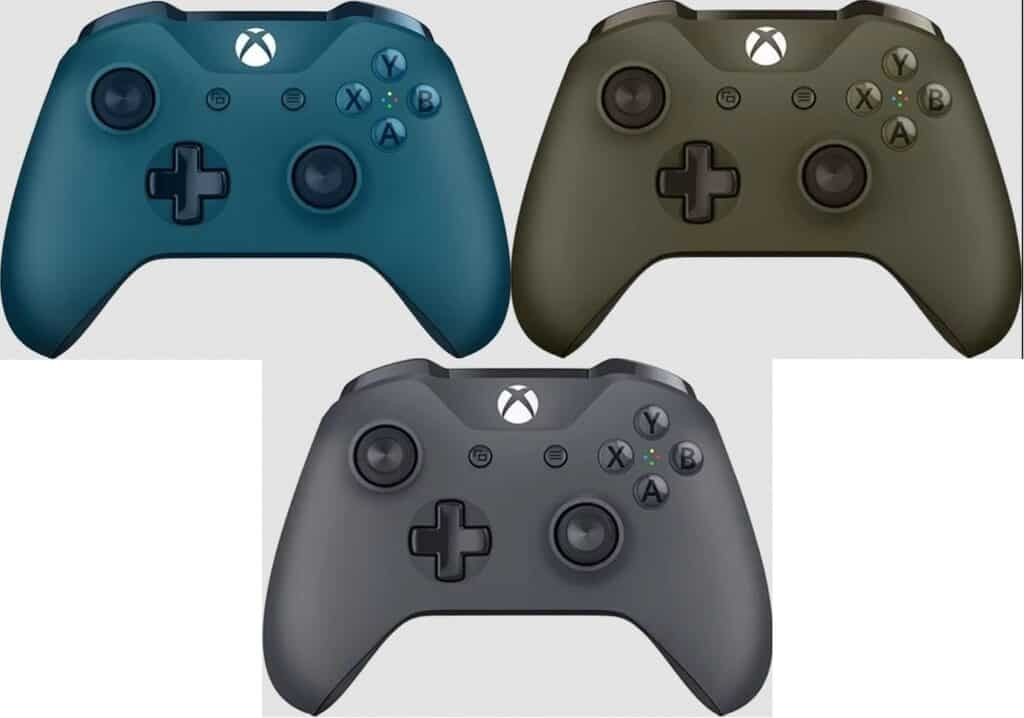 Deep Blue, Military Green, and Storm Grey