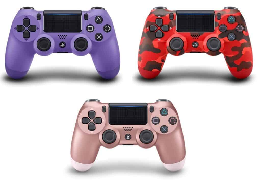 Electric Purple, Red Camouflage, and Rose Gold