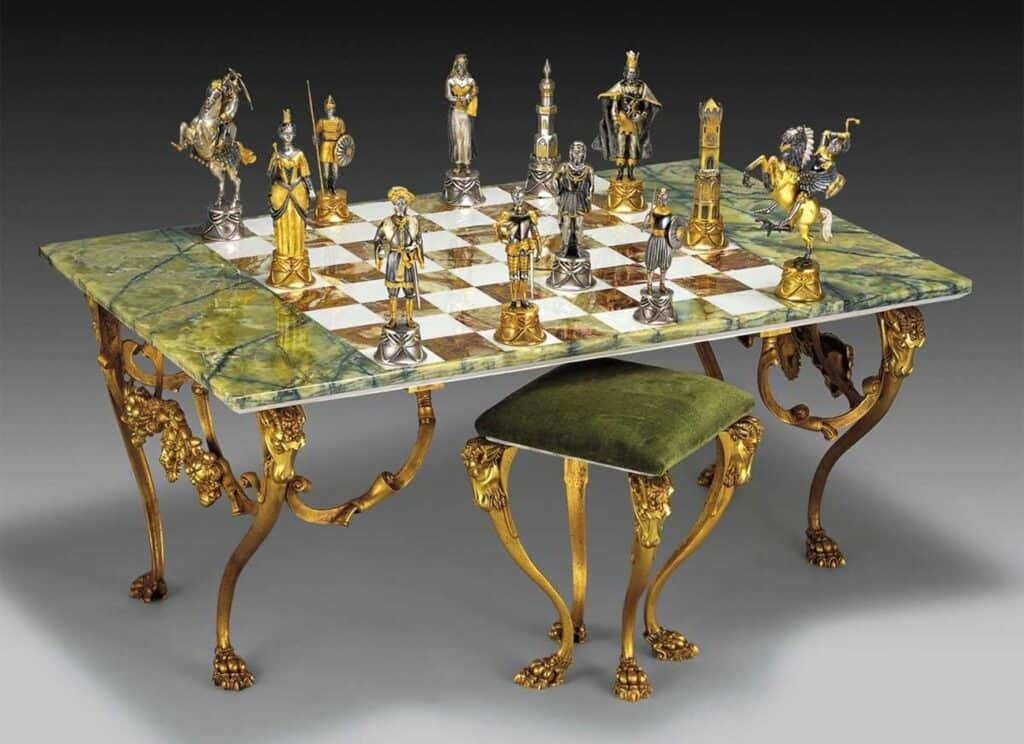Charlemagne, King of Carolingians vs the Moors of Spain Giant Chess Set