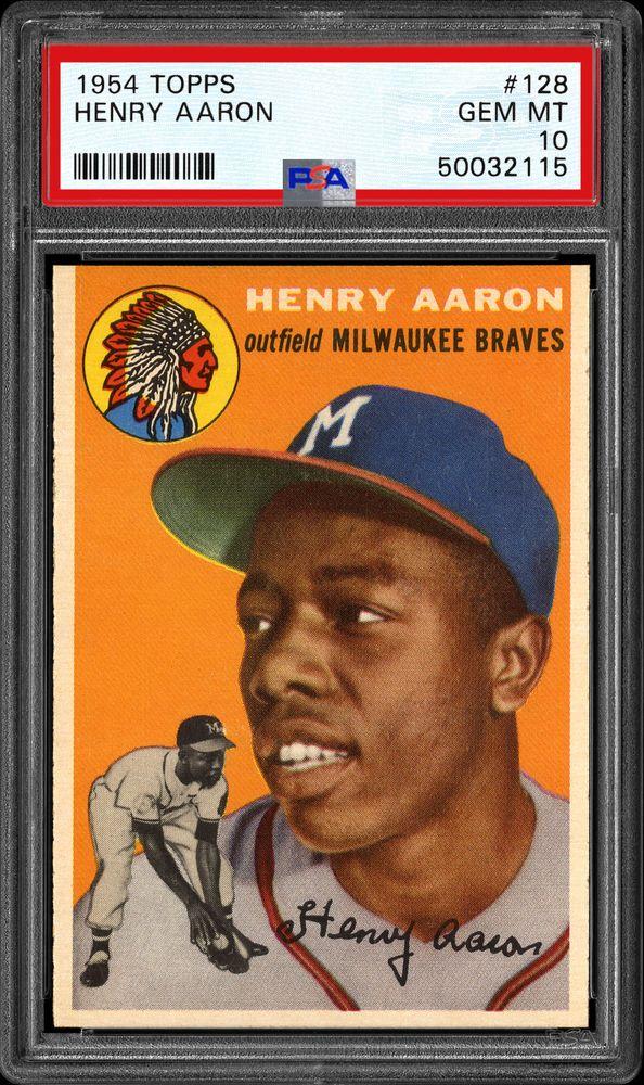 #128 Hank (Henry) Aaron Rookie Card