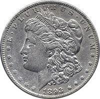 1893 O Morgan Silver Dollar