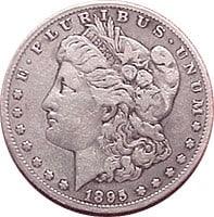 1895 O Morgan Silver Dollar