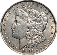 1901 P Morgan Silver Dollar