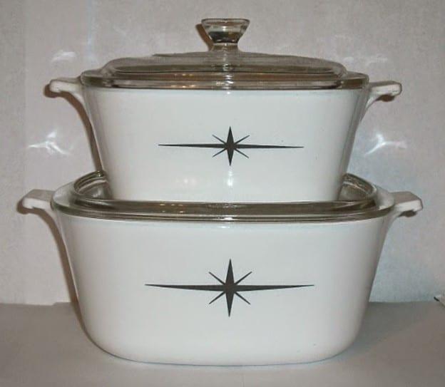 Atomic Starburst Black Star Casserole Dish