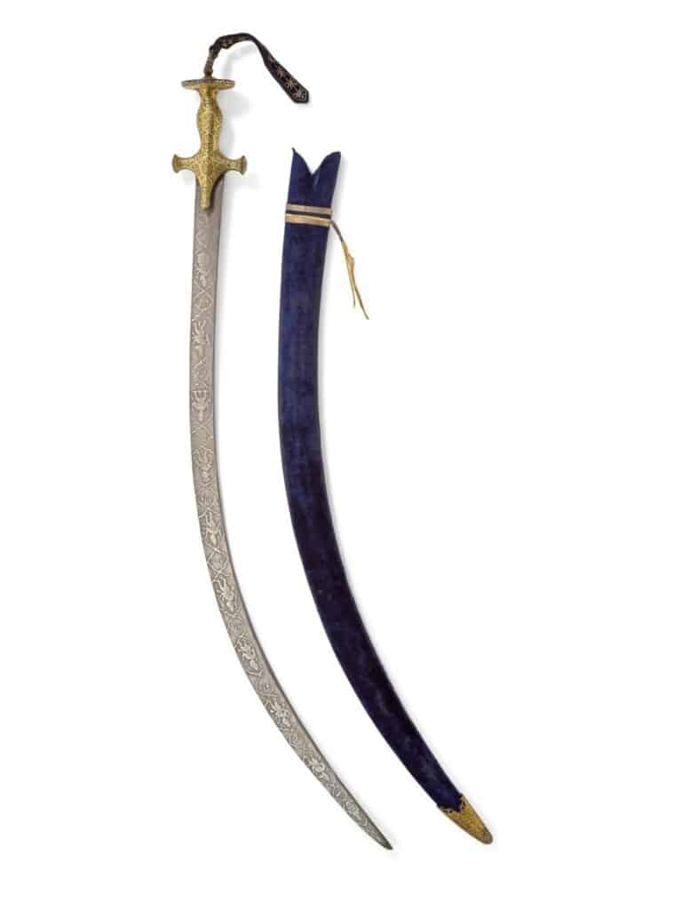 8. Steel-Hilted Sword from India