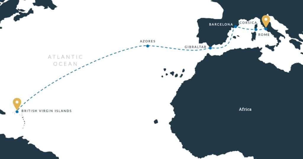 ActionQuest Transatlantic Caribbean to Rome Adventure