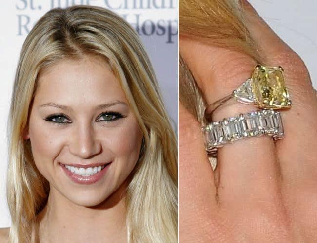 Anna Kournikova's Engagement Ring from Enrique Iglesias