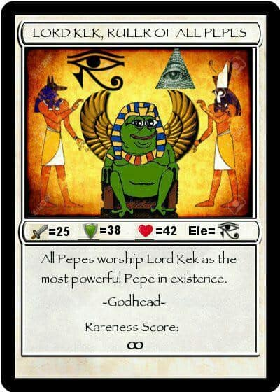 Lord Kek, Ruler of All Pepes