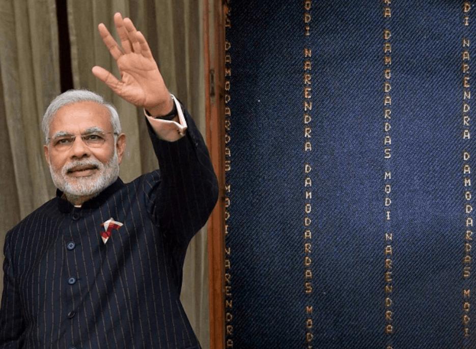 Prime Minister Modi's Monogrammed Suit
