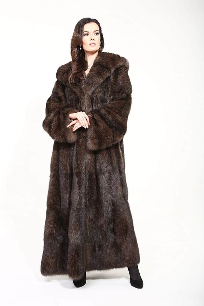 Real Russian Sable Long Fur Coat