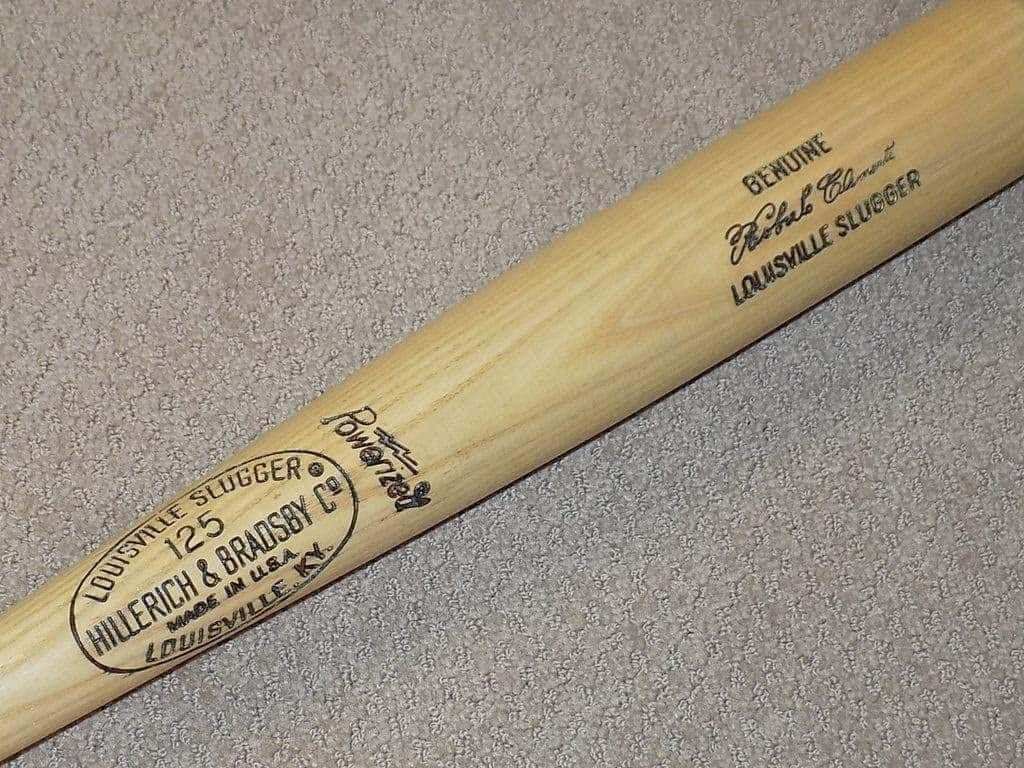 Signed Roberto Clemente Last Pittsburgh Pirates Game Bat