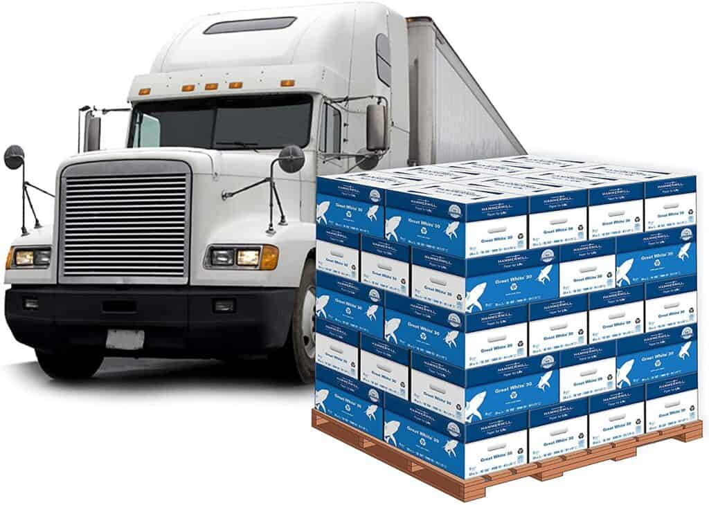 Truckload of Hammermill Great White Printer Paper